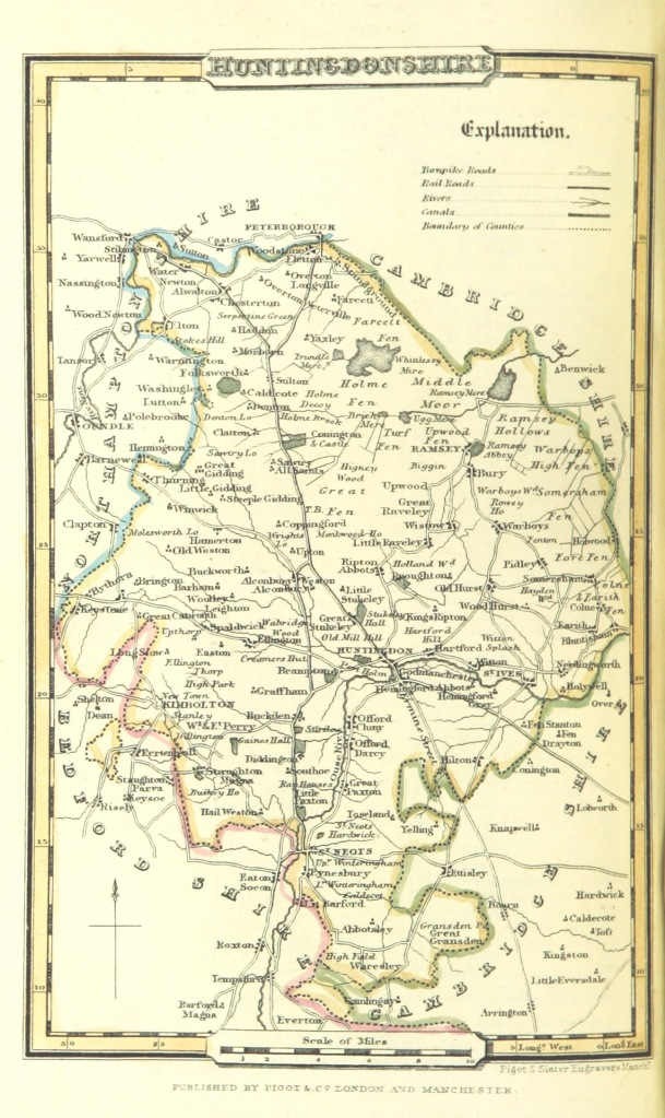 Pigot_and_Co_(2)_p1.304_-_Map_of_Huntingdonshire