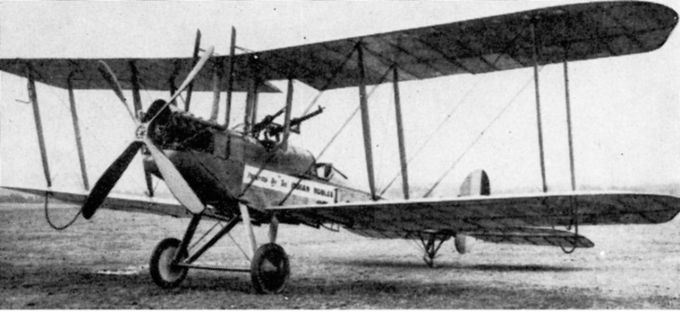 "Unatributed photo of a wartime Avro B.E.2c, with 'V"" undercarriage, stremlined engine cowling, and the upper wing cut-out for the tail gunner to improve field of fire.  Sadly, there are no photographs of B.E.2's operating from RAF Molesworth during the war that I have been able to locate."