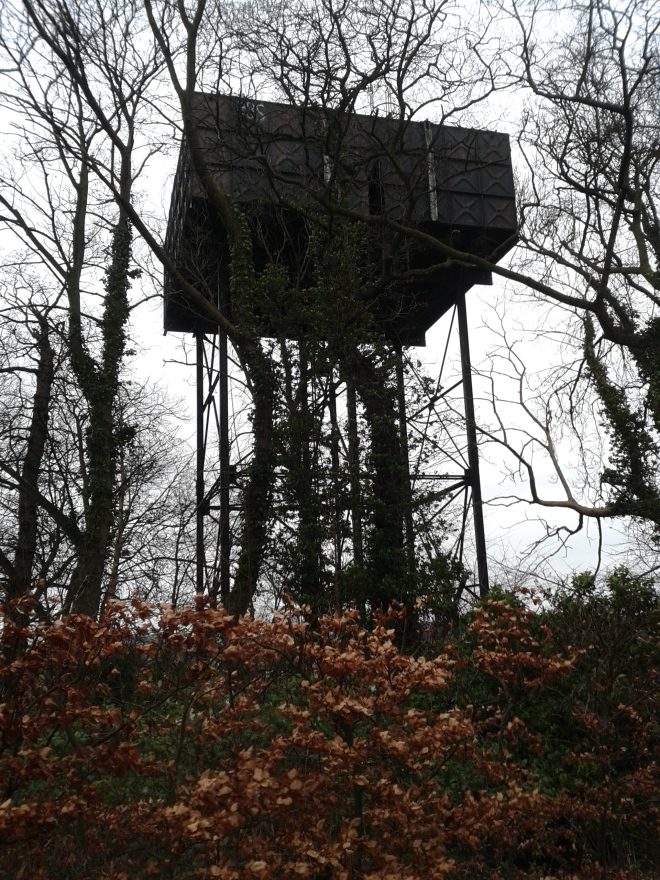 The watertower of the former airfield of RAF Glatton, the only surviving structure from the Second World War. © Brandon Wilgus, 2015