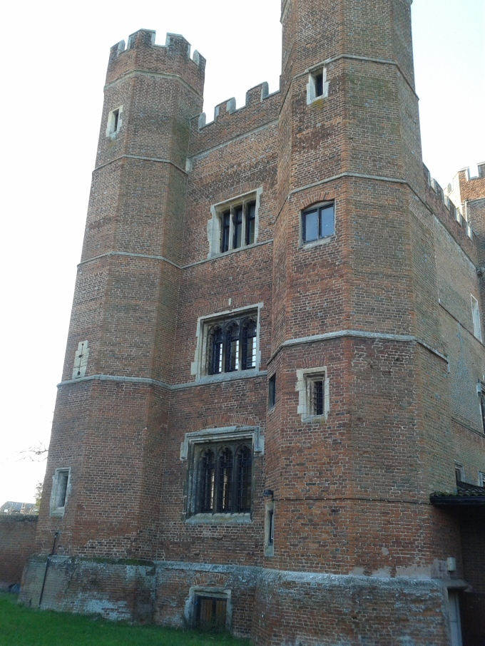 The bricked towers of the fortified manor, added n 1475 by the Bishop of Lincoln, © Brandon Wilgus, 2015.