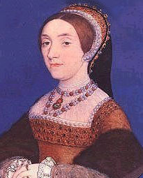 Miniature of Catherine Howard as Queen of England by Hans Holbein the Younger.  This image is in the public domain.