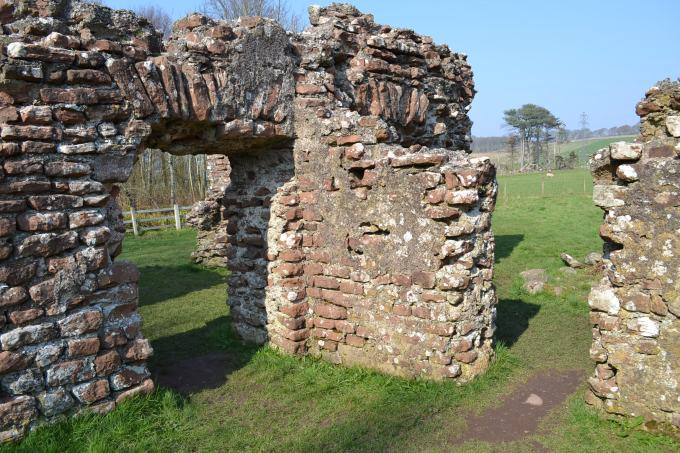 Part of the Ravenglass Bath House.  The two doorways pictured lead from the area archeologists have identified as the changing area to the bathing rooms.  © Brandon Wilgus, 2015.