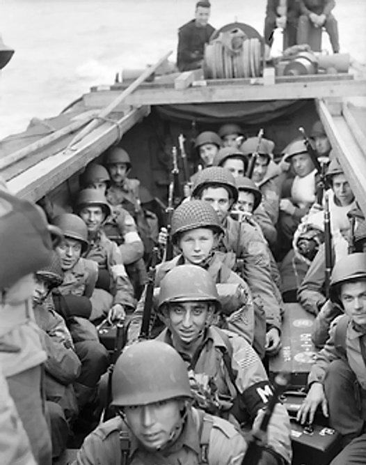 Americans in Landing Craft Operation Torch